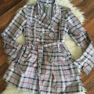 JOLT PLAID JACKET SIZE M